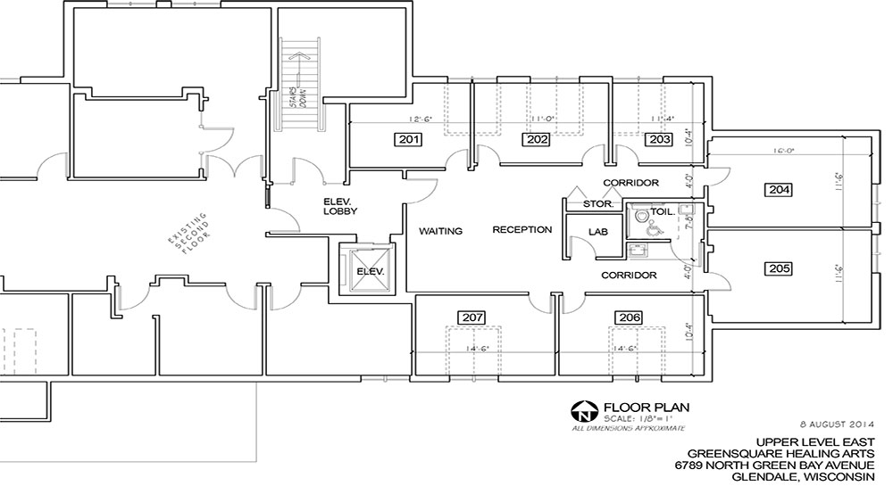 Join our healing community greensquare integrative for Elevator floor plan